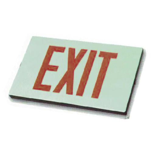 Low Level Exit Sign - Red Lettering