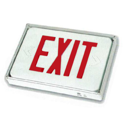Low Level Exit Sign, Remote connect - Red Lettering