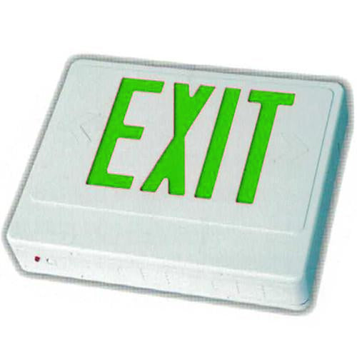 Standard High Capacity Exit Sign - Green Letters
