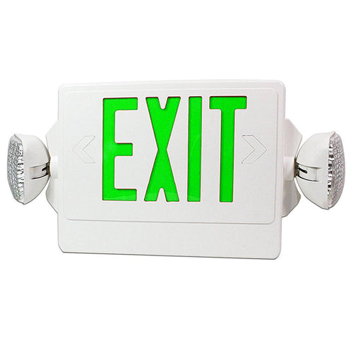 02_LED Exit Emergency Combo - Green Letter