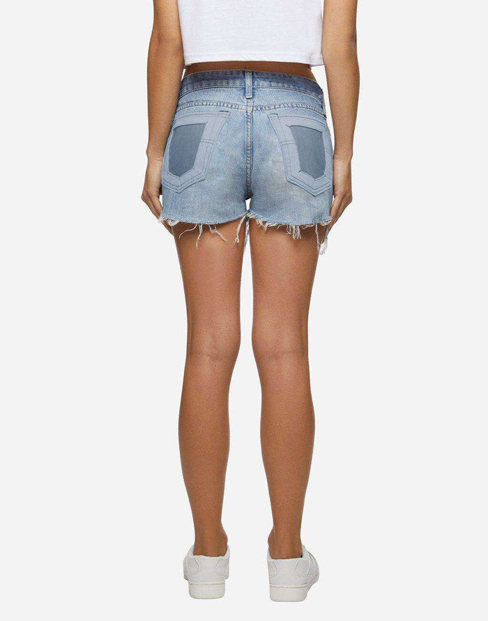 Shorts Denim scuri tasca trasparente