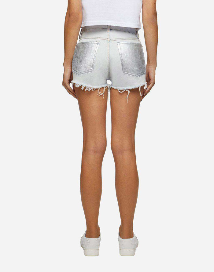 Shorts Denim chiari tasca iridescente
