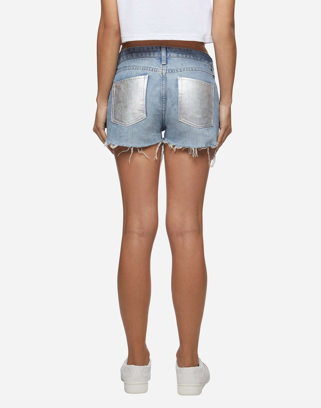 Shorts Denim scuri tasca iridescente