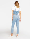 T-Shirt corpetto in Denim