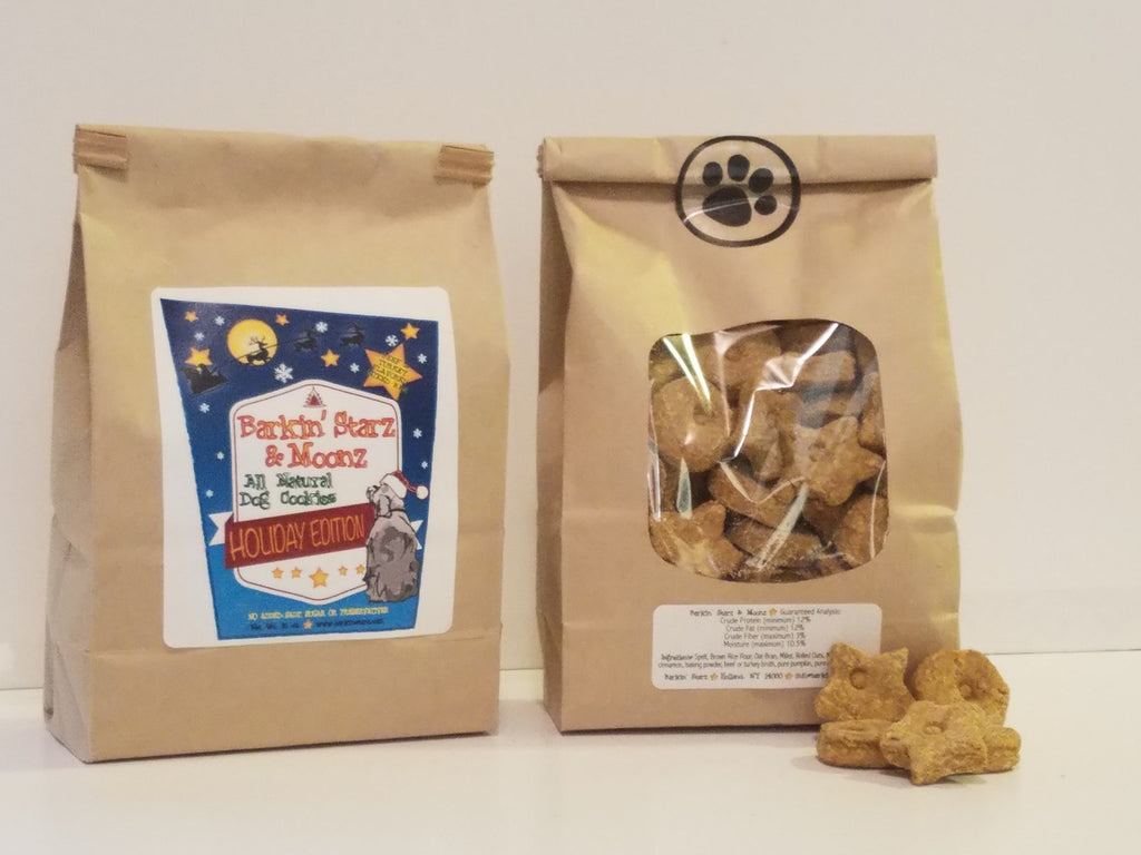 Holiday Edition- *Reindeer* Barkin'Starz And Moonz 16 oz. Bag Beef And Turkey Flavored