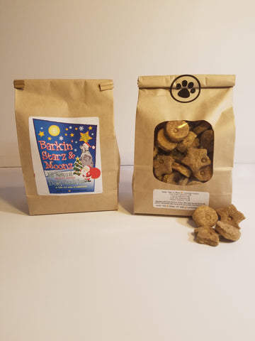 Holiday Edition- *Santa* Barkin'Starz And Moonz 16 oz. Bag Beef And Turkey Flavored