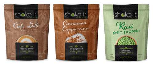 Vegan 3 Pack from Shake It Health and Beauty Plant Based Protein