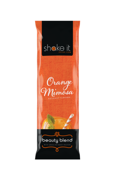 Shake It Beauty Blend Collagen Infused Whey Protein Powder - Orange Mimosa 5 Pack