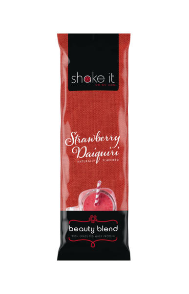 Shake It Beauty Blend Collagen Infused  Whey Protein Powder - Strawberry Daiquiri 5 Pack