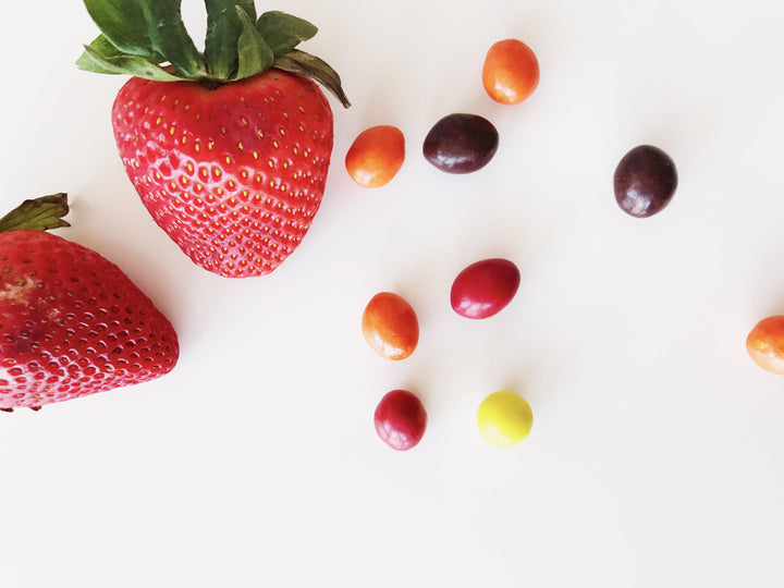 strawberries candy low vs high glycemic foods