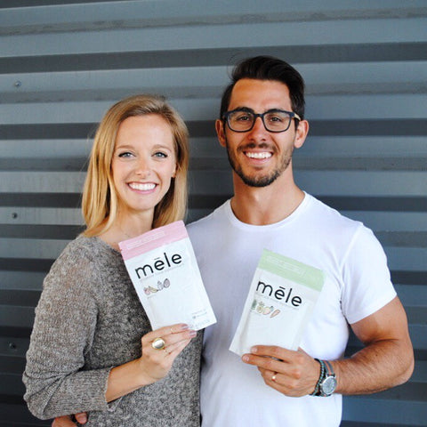 founders of mele, all-natural meal replacement, lauren & adam benbassat