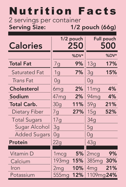 mele, all-natural meal replacement rawberry nutrition facts
