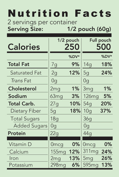 mele, all natural meal replacement supergreen nutrition facts
