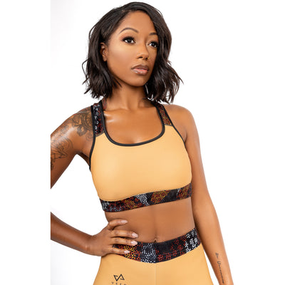 Safiah Padded Sports Bra in Nude - Veer Active