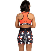 Merina Long Yoga short printed in Black - Veer Active