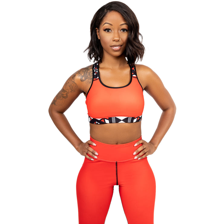 Merina Padded Sports Bra in Red - Veer Active
