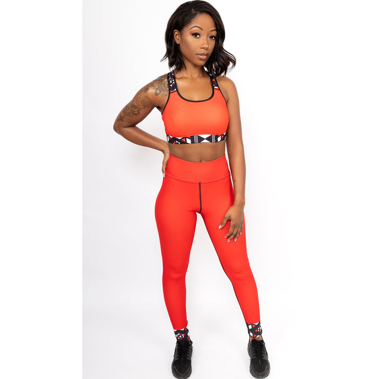 Shani Yoga Leggings in Red - Veer Active