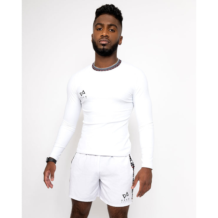 Cunha Men's Rash Guard in White - Veer Active