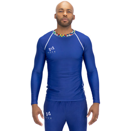 Asante Men's Rash Guard in Navy - Veer Active