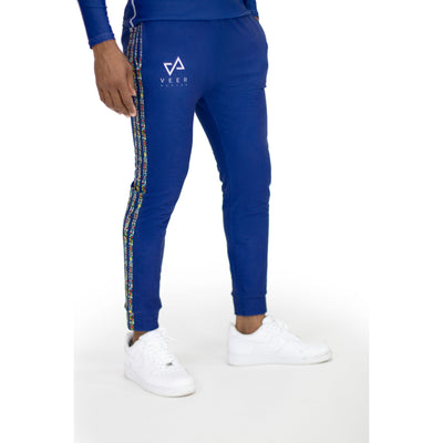 Imara Men's tri pattern Joggers in Navy - Veer Active