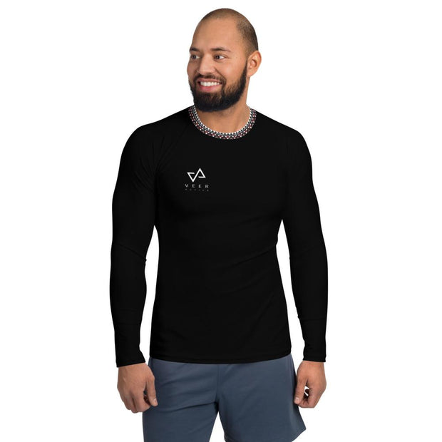 Cunha Men's Rash Guard in Black - Veer Active
