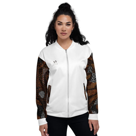 Kenya Bomber Jacket in White - Veer Active