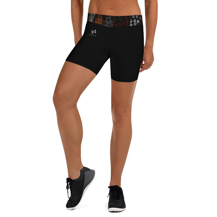 Kibole short shorts in Black - Veer Active