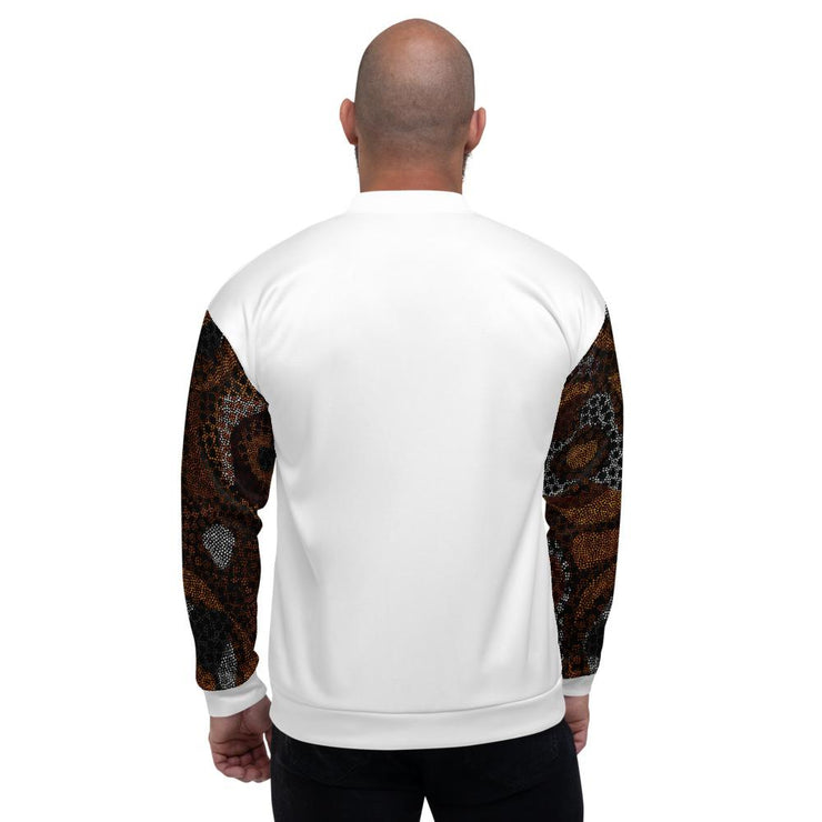 Mandela Bomber Jacket in White - Veer Active