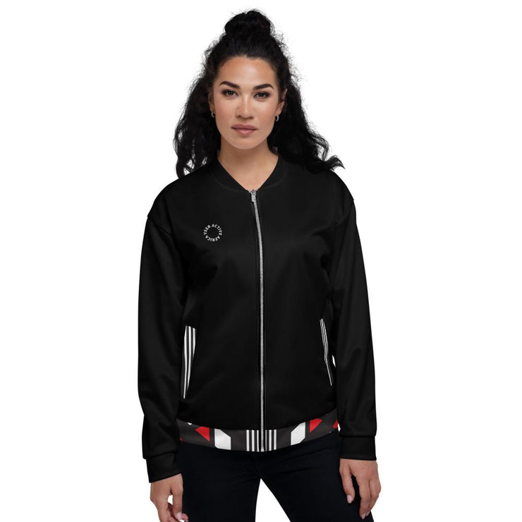Nalah Bomber Jacket in Black - Veer Active