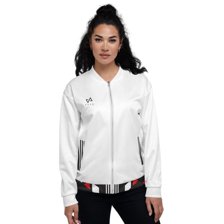 Rosa Bomber Jacket in White - Veer Active