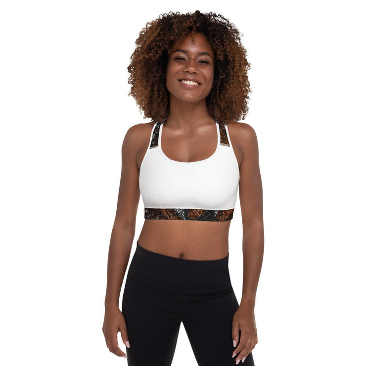 Safiah Padded Sports Bra in white - Veer Active