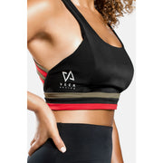 Unity flow sports bra in Black - Veer Active