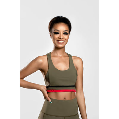 Unity flow sports bra in Green - Veer Active