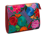 Selena Large Embroidered Clutch - Lobelia - LUCINE