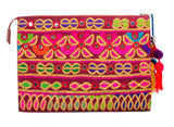 Selena Large Embroidered Clutch - Chameli - LUCINE