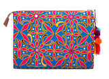 Selena Large Embroidered Clutch - Leela - LUCINE