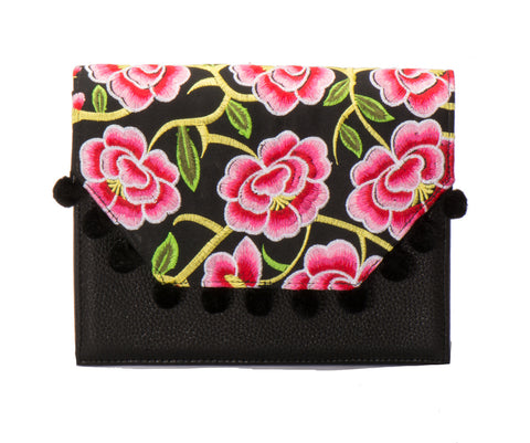 Lola Cross Body Handbag - Valentina Black - LUCINE