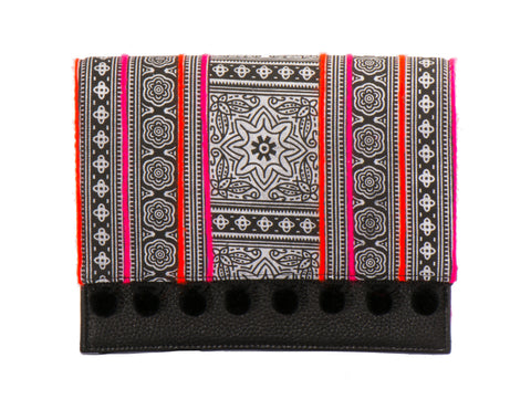 Charlotte Cross Body Handbag - Black Batik - LUCINE