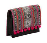Charlotte Cross Body Handbag - Pink Batik - LUCINE