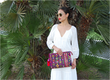 Selena Large Embroidered Clutch - Ayesha - LUCINE