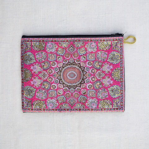 Middle Eastern Design Cosmetic Pouch // Large