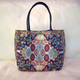 Middle Eastern Tote Bag - Navy Blue - LUCINE