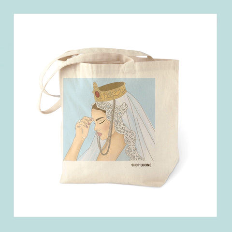 ARMENIA Tote Bag // LENA Blue