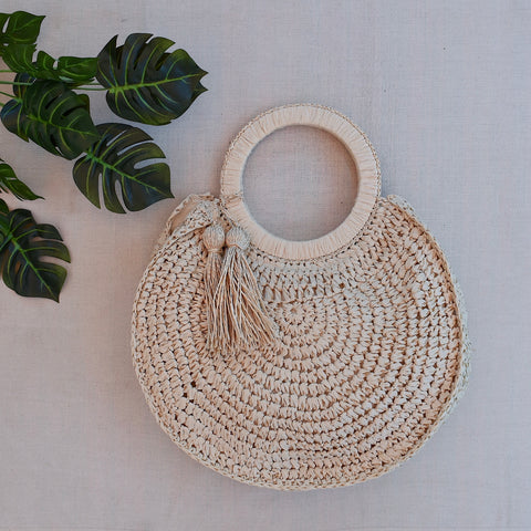 Tropics Lotus Bag - Cream
