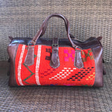 Moroccan Weekender Bag - Orange - LUCINE