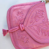Embroidered Moroccan Cross Body Handbag - Pink - LUCINE