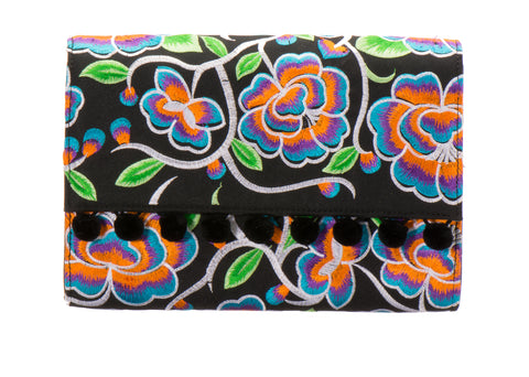 Leila Clutch Handbag - Fernanda Black