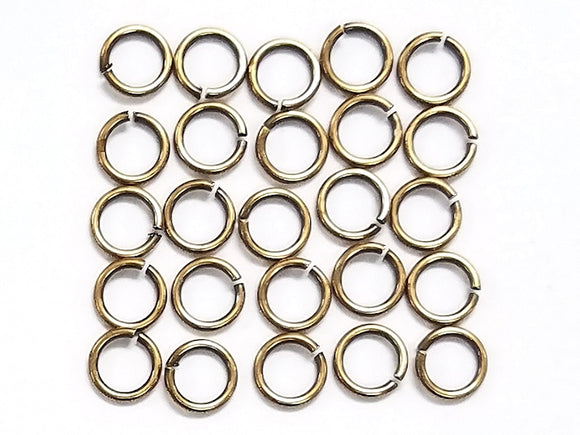Tierracast Round Jump Rings 4mm 8 Gauge Brass