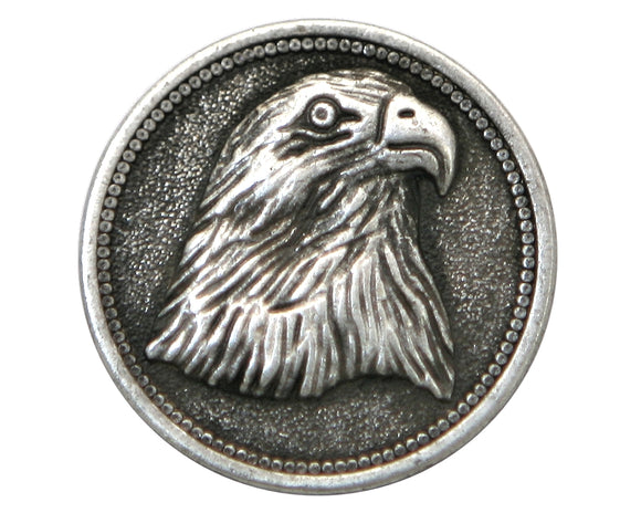 American Eagle  7/8 inch Metal Button Antique Silver Color