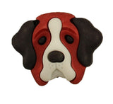 Buttons Galore St. Bernard Dogs<br> Novelty Buttons<br> Pets & Pals Collection
